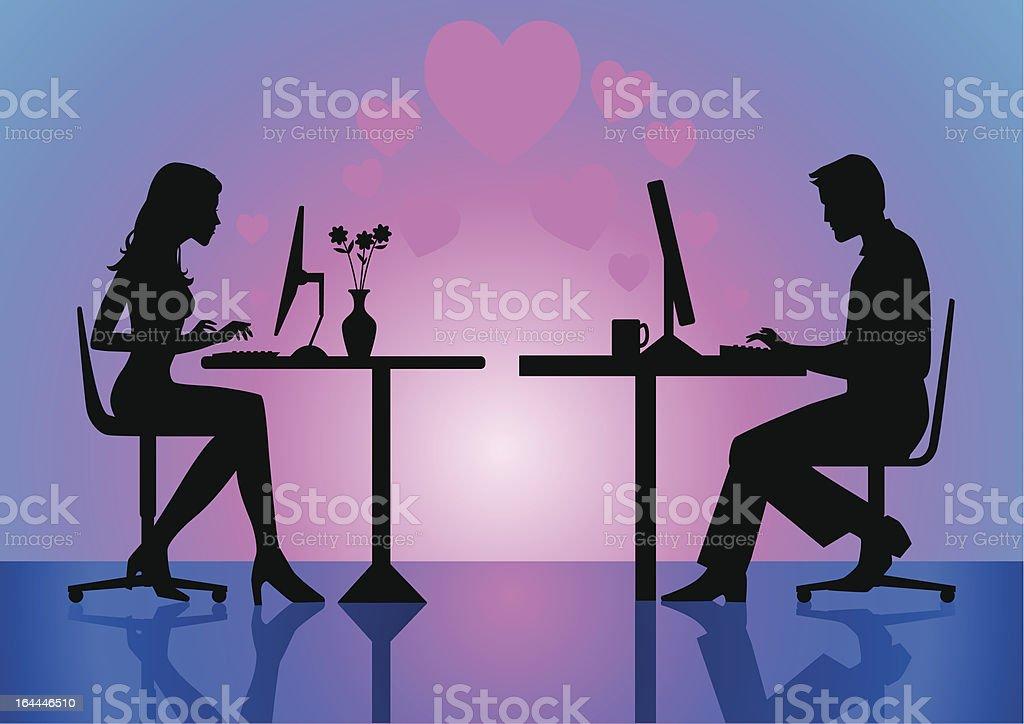 Internet Love vector art illustration