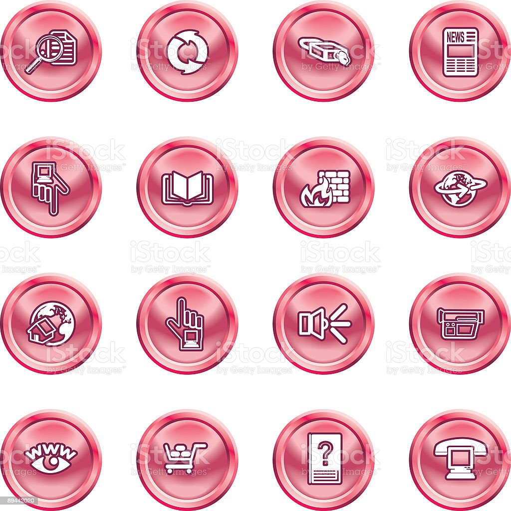 Internet or Computing Icon Set royalty-free stock vector art