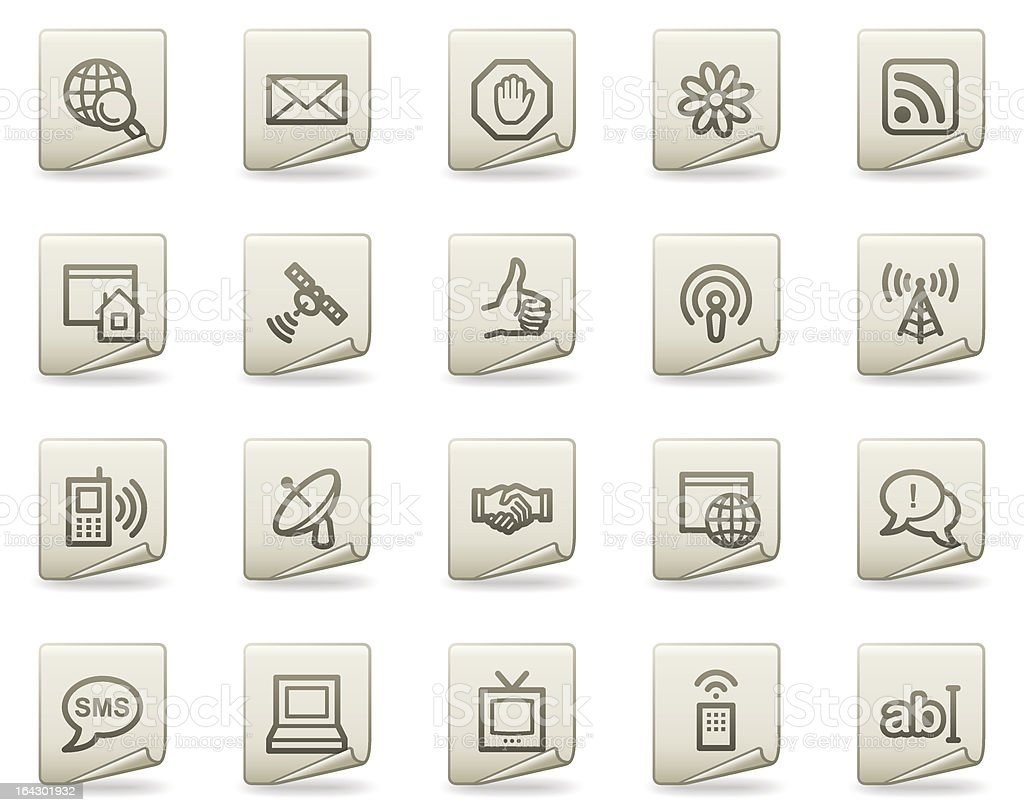 Internet web icons, document series royalty-free stock vector art