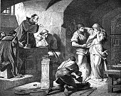 Interrogation of a witch by priests
