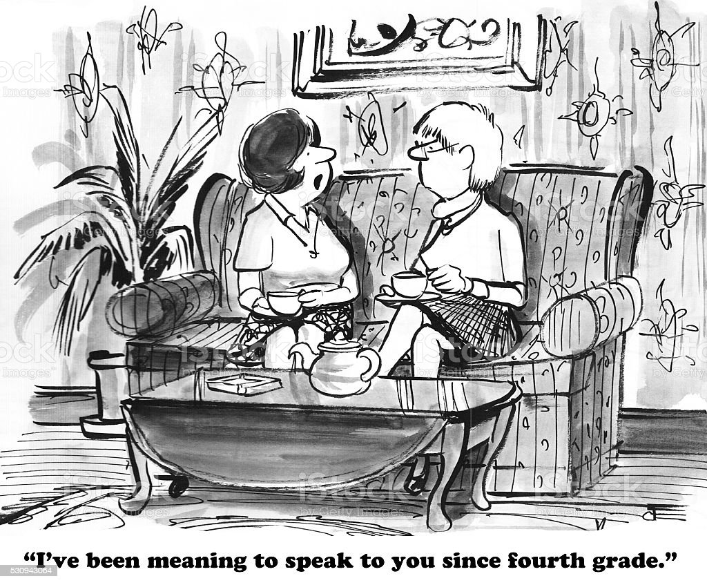 Introvert vector art illustration