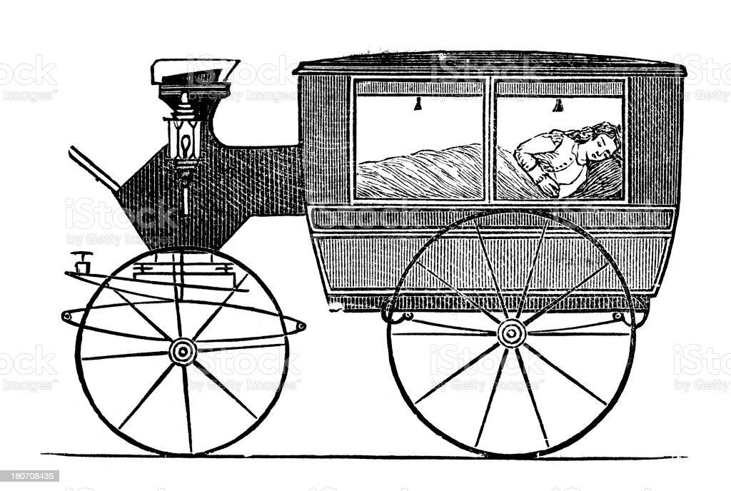 Invalid Carriage Stock Vector Art More Images Of 19th Century