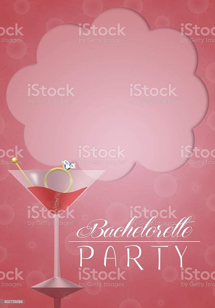 Invitation for bachelorette party vector art illustration