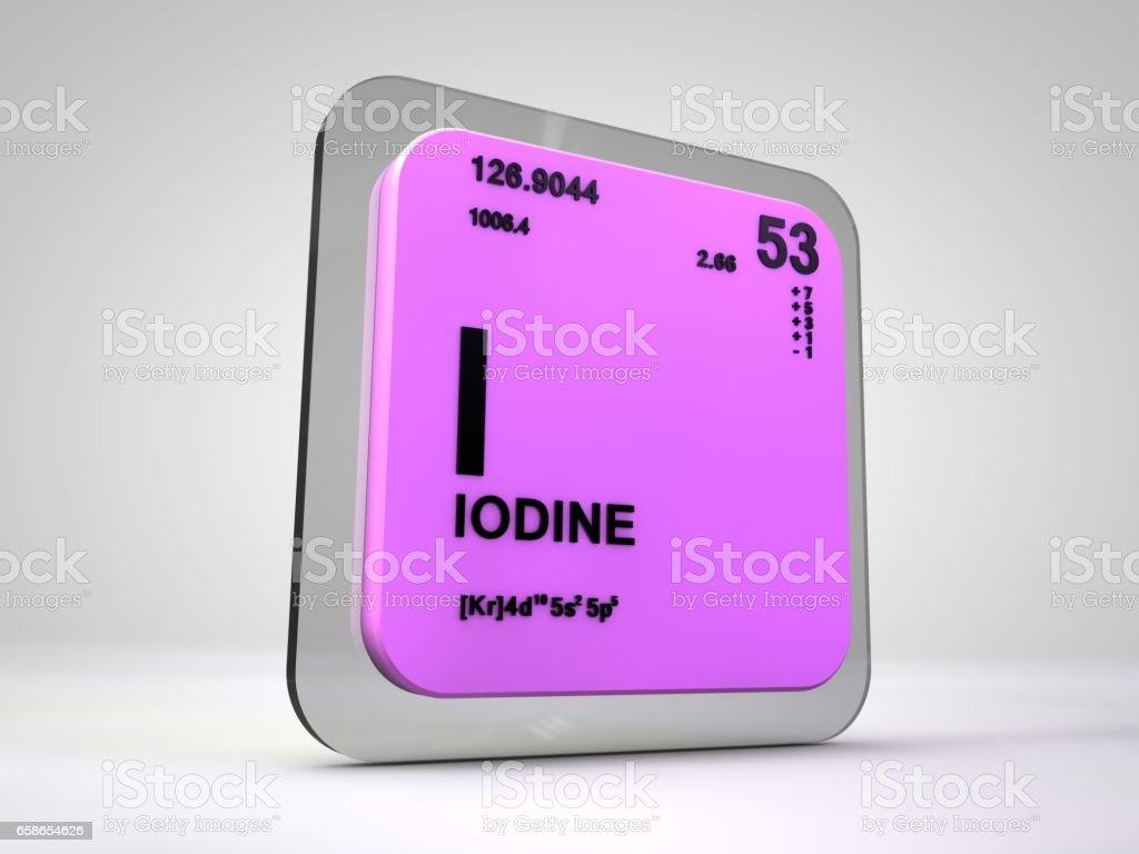 Iodine i chemical element periodic table 3d render stock vector laboratory liquid number symbol italy iodine i chemical buycottarizona