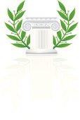 Ionic Greek Column or Pedestal