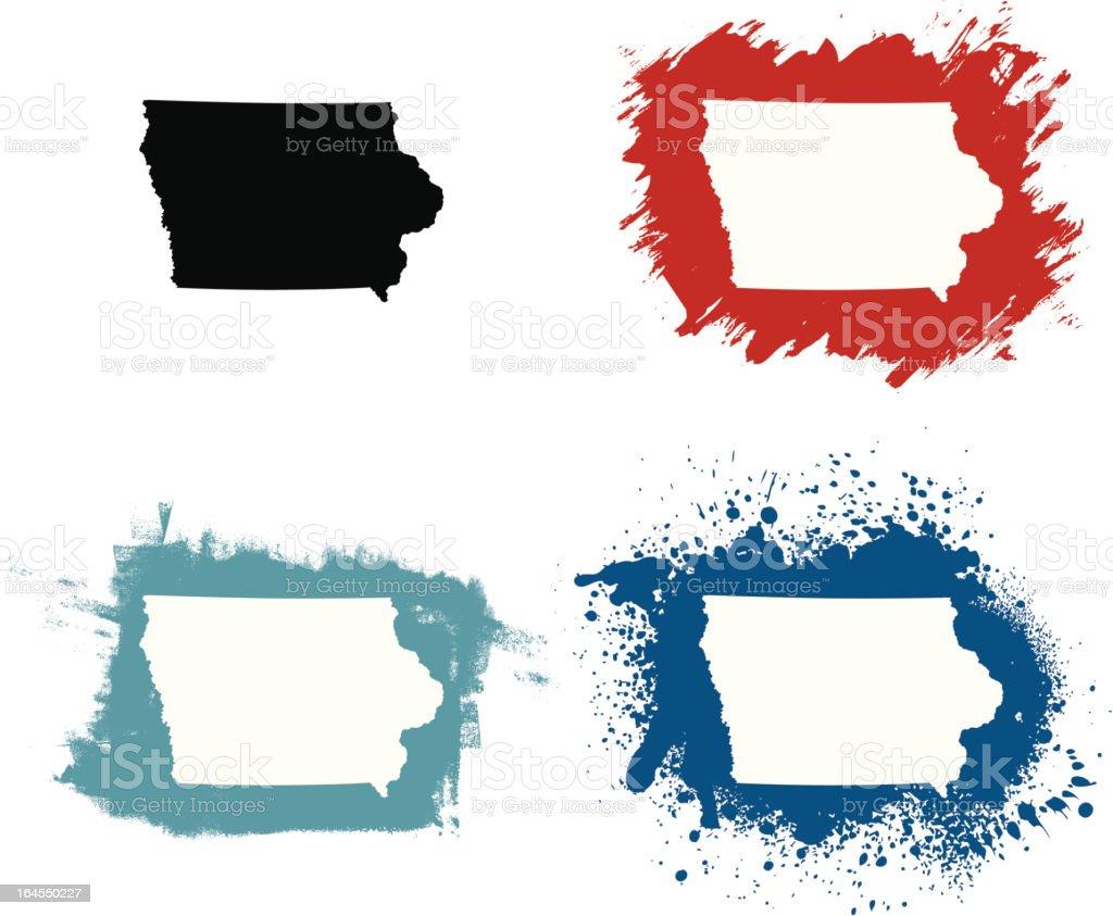 Iowa royalty-free stock vector art