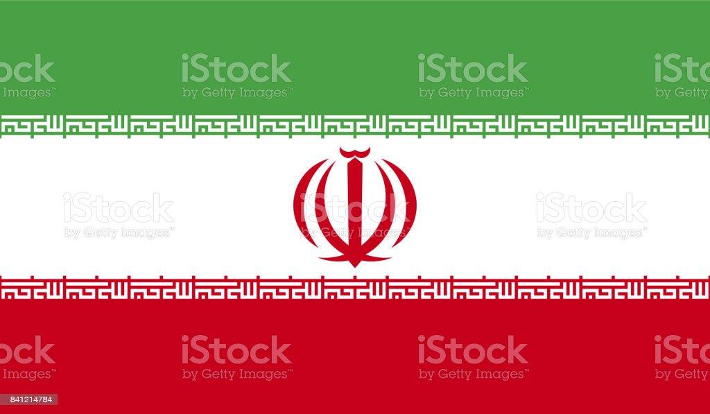 Bandeira do Irã - ilustração de arte em vetor