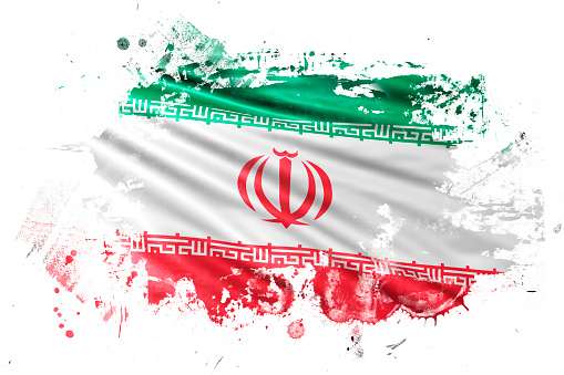 Iran Ink Grunge Flag