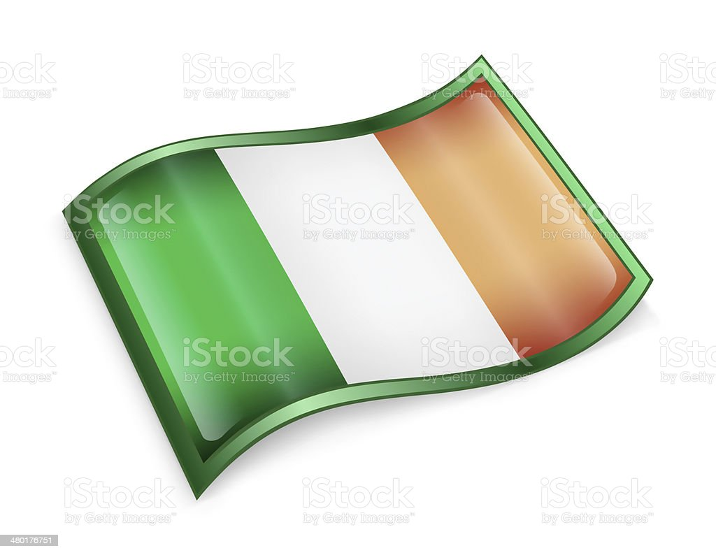 Ireland Flag Icon, isolated on white background. royalty-free ireland flag icon isolated on white background stock vector art & more images of authority