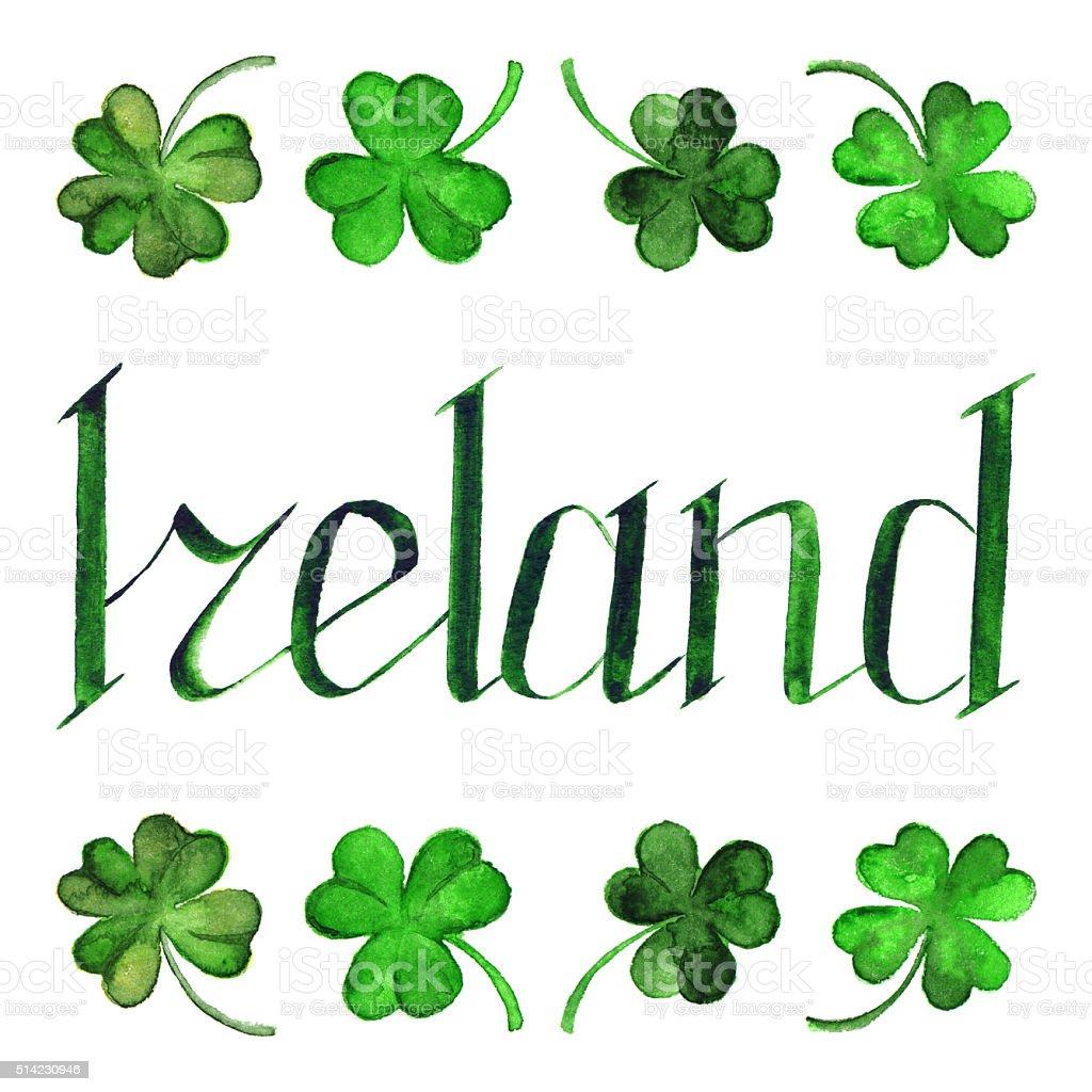Ireland green phrase word lettering typographic isolated stock ireland green phrase word lettering typographic isolated royalty free ireland green phrase word lettering typographic buycottarizona