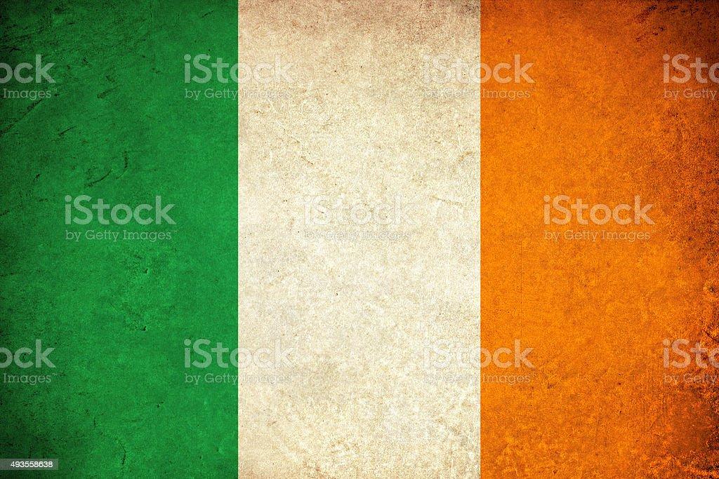 Ireland grunge flag vector art illustration