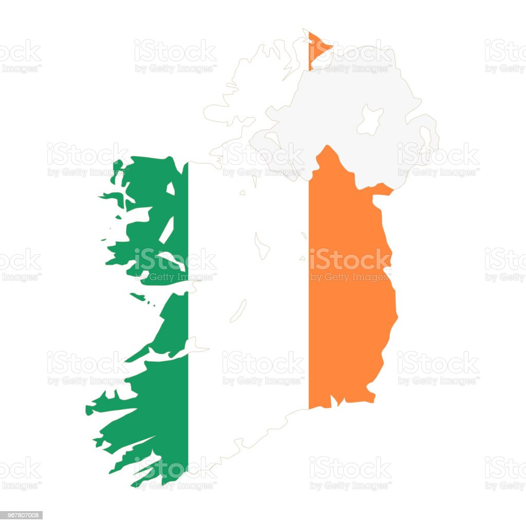 Country Of Ireland Map.Ireland Map And Flag Stock Vector Art More Images Of Country