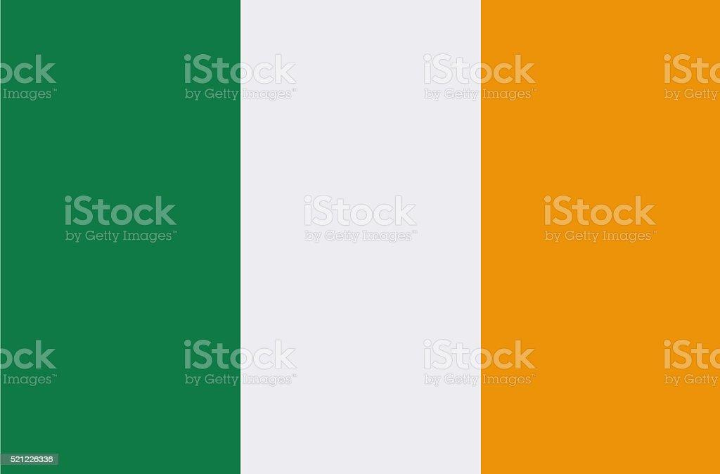 Bandera de la República de Irlanda - ilustración de arte vectorial