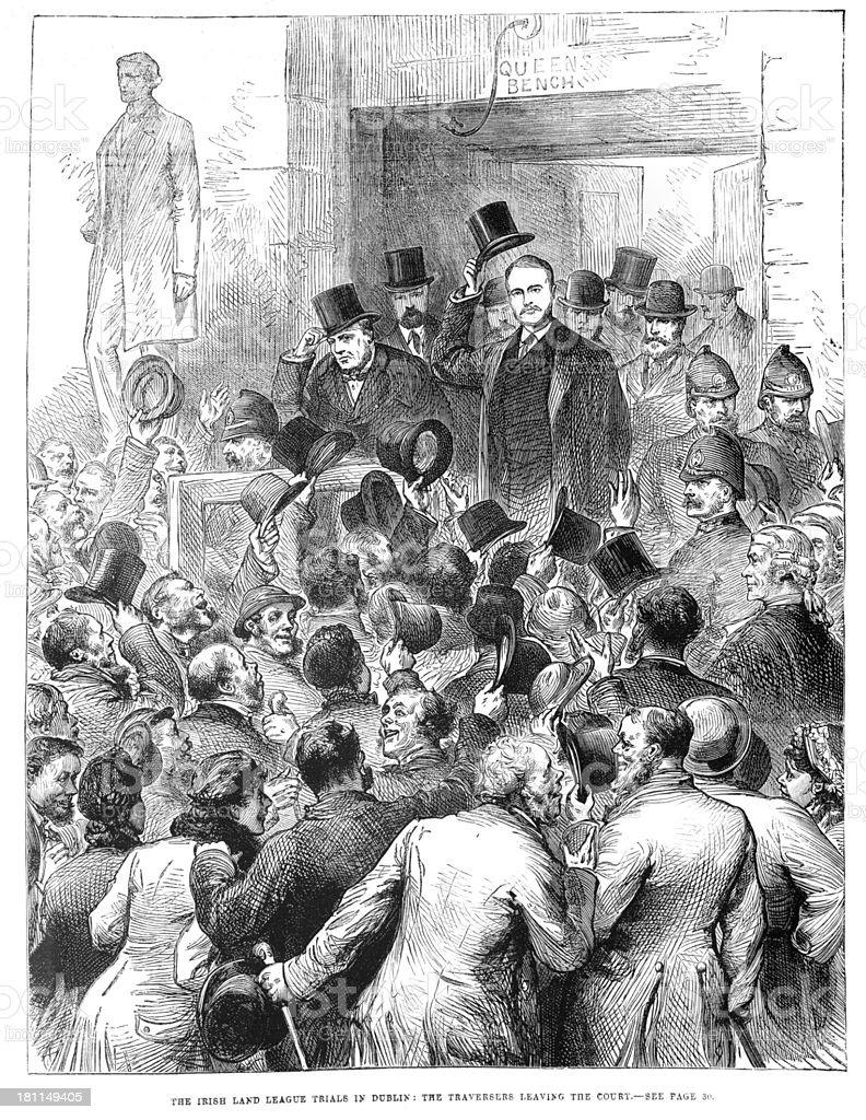 Irish Land League Trials royalty-free irish land league trials stock vector art & more images of 1880-1889