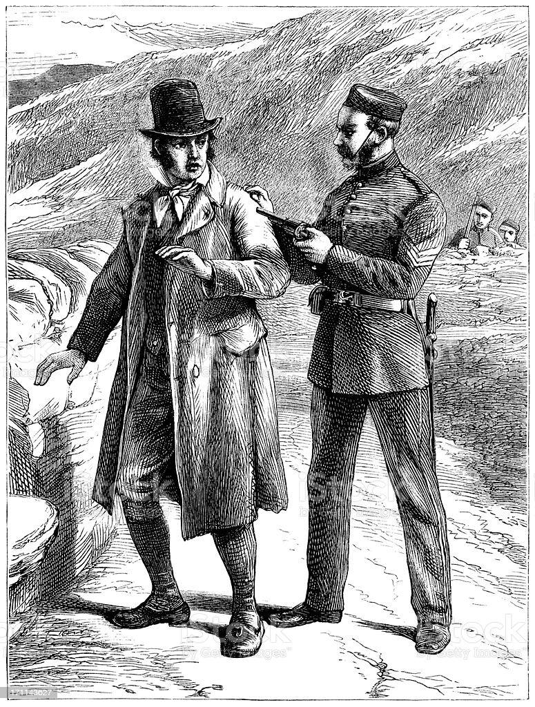 Irish struggle for Home Rule - making an arrest royalty-free irish struggle for home rule making an arrest stock vector art & more images of 1870-1879