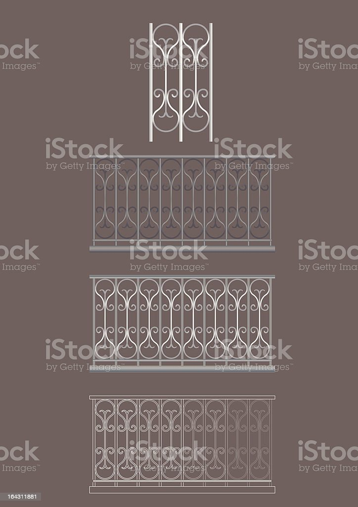 Iron Balconies royalty-free iron balconies stock vector art & more images of architectural feature
