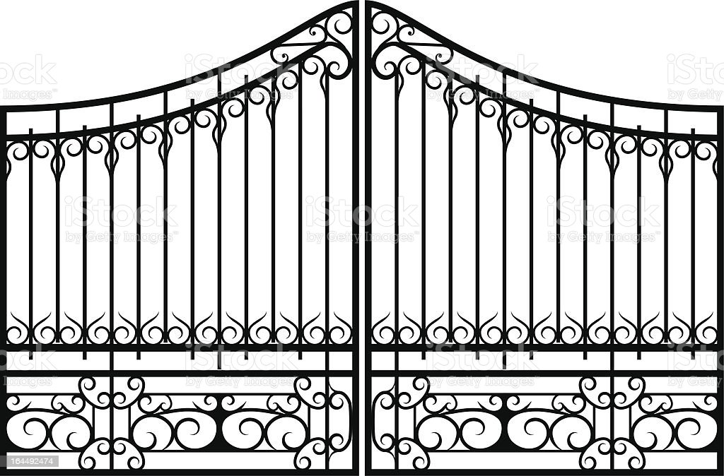Iron gate stock vector art more images of angle