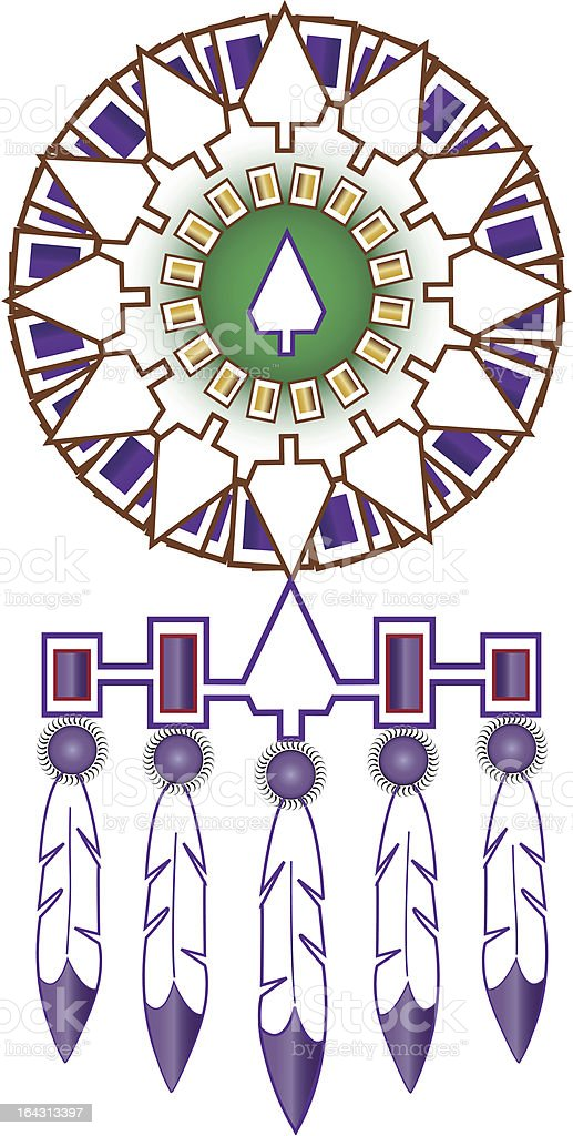Iroquois Native American Indian Medicine Shield Stock Vector Art