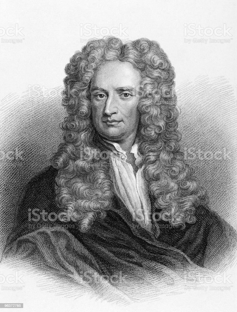 Isaac Newton royalty-free stock vector art