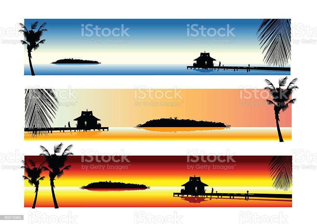 Island Holiday royalty-free stock vector art