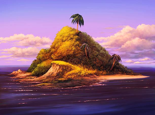 Best Deserted Island Illustrations, Royalty-Free Vector ...