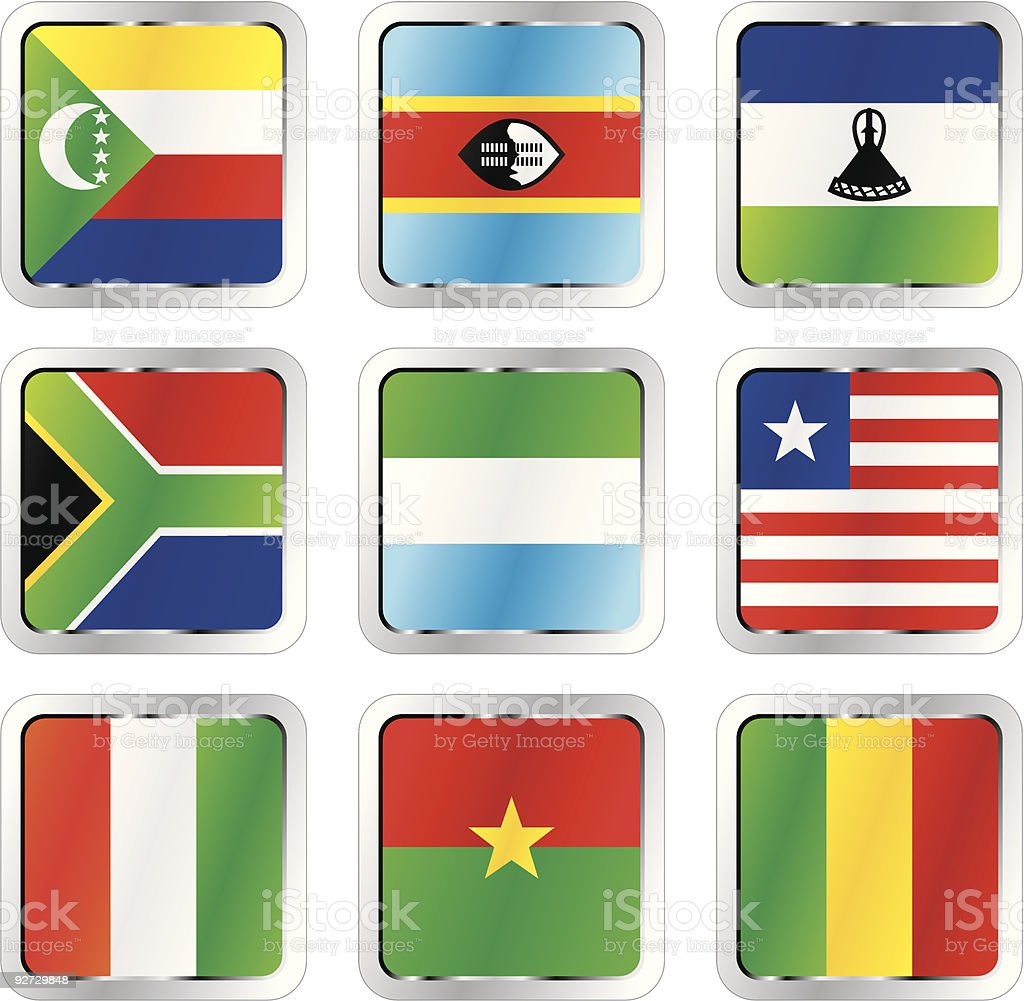 isolated african flags royalty-free stock vector art