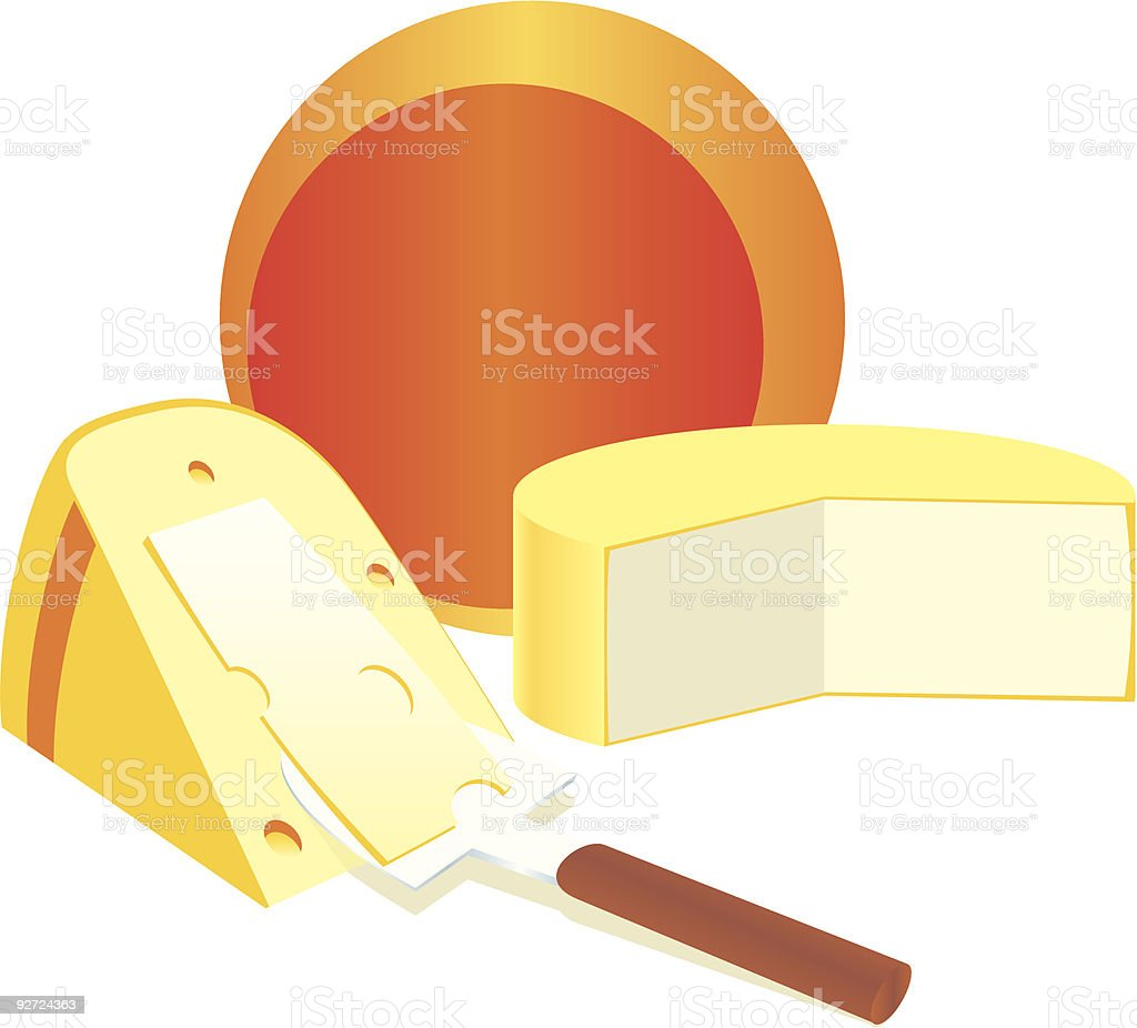 isolated cheese products royalty-free stock vector art