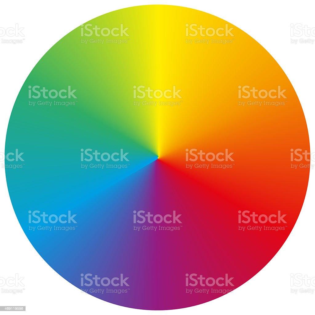 Isolated circular rainbow gradient vector art illustration