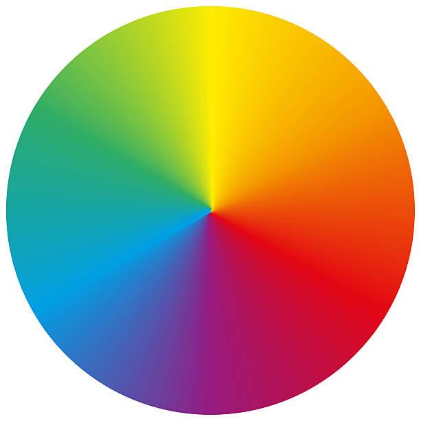 bildbanksillustrationer, clip art samt tecknat material och ikoner med isolated circular rainbow gradient - spektrum