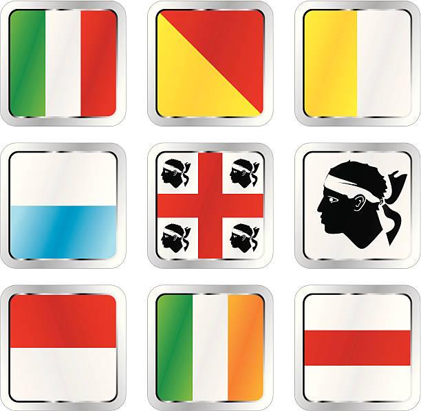 illustrazioni stock, clip art, cartoni animati e icone di tendenza di bandiere europee isolate - sardegna