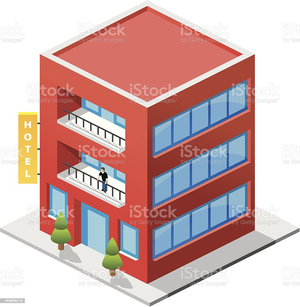 Isometric Hotel royalty-free isometric hotel stock vector art & more images of holiday villa