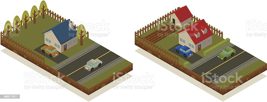 Isometric houses - Royaltyfri Arkitektur vektorgrafik