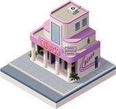 Isometric nightclub building
