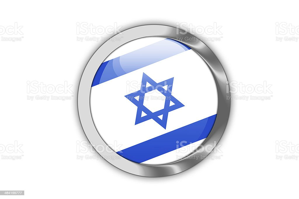 Israel Flag button. royalty-free stock vector art