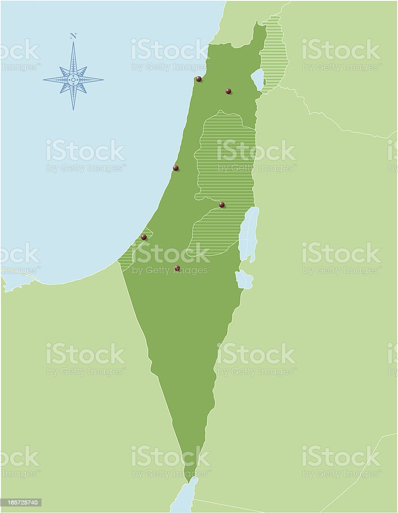 Israel map royalty-free israel map stock vector art & more images of egypt