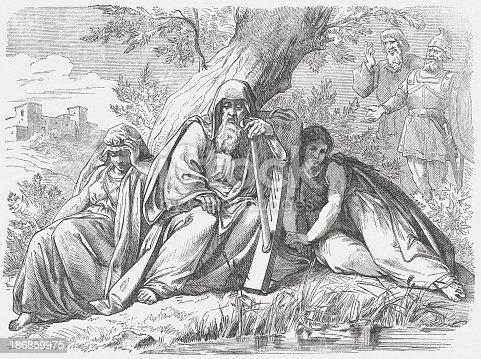 istock Israelites in Babylonian captivity, wood engraving, published in 1877 186859975