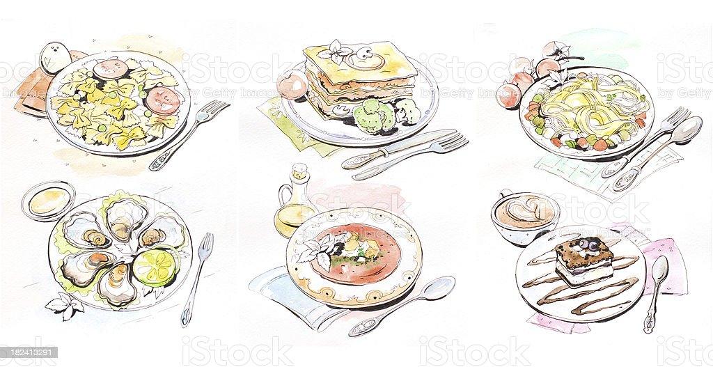 Italian cuisine royalty-free stock vector art