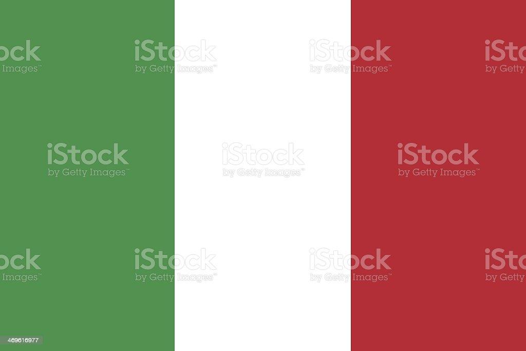 Italian flag on a black background vector art illustration