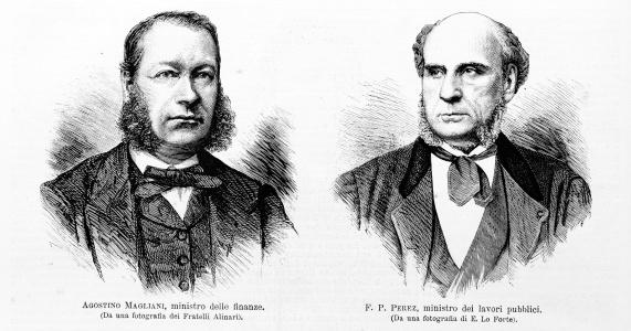 Italian ministers Magliani and Perez