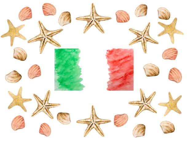 illustrazioni stock, clip art, cartoni animati e icone di tendenza di italian national holiday. beautiful greeting card. close-up - ferragosto