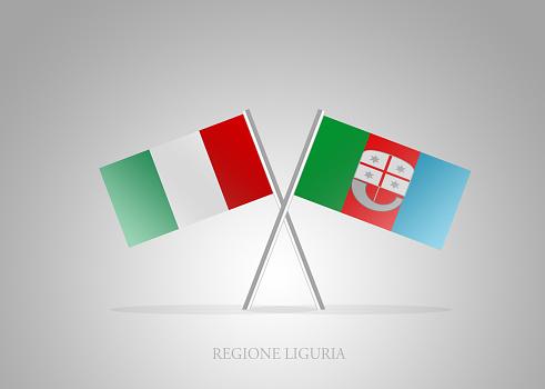 Italian States - Italia Regione Liguria Mini Flag Series
