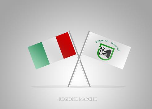 Italian States - Italia Regione Marche Mini Flag Series