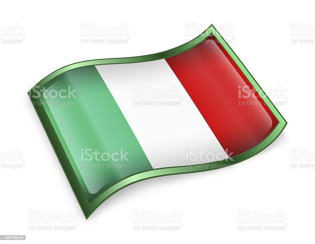 Italy Flag Icon, isolated on white background vector art illustration