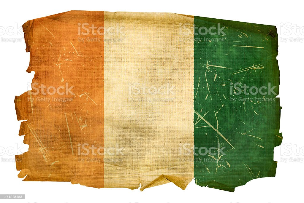 Ivory Coast flag old, isolated on white background royalty-free ivory coast flag old isolated on white background stock vector art & more images of aging process