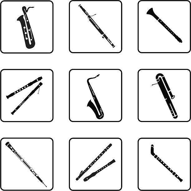 iwoodwind - klarnet stock illustrations