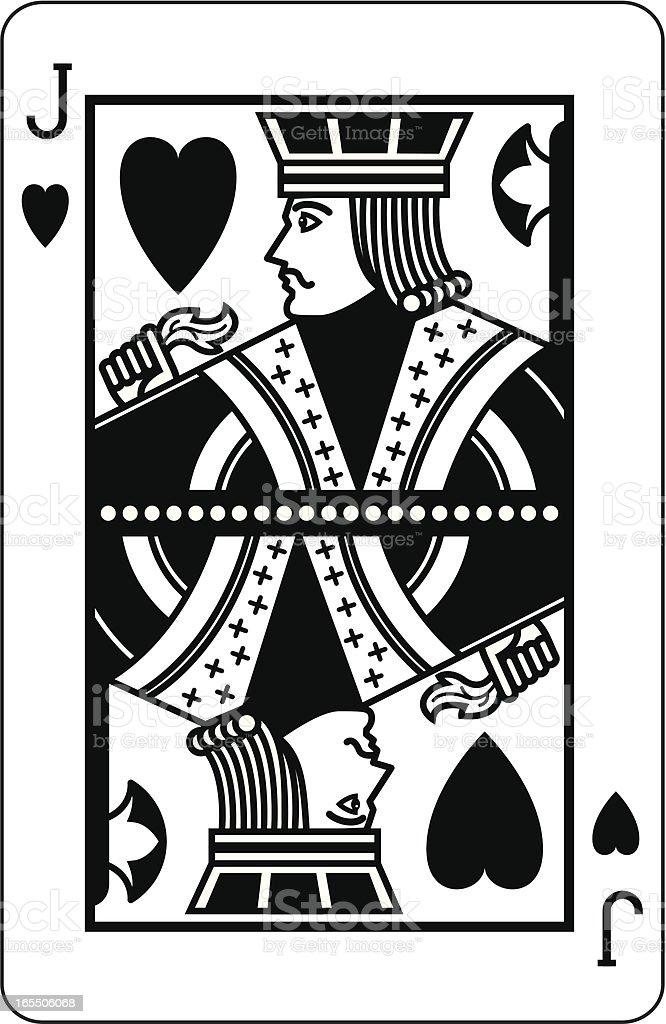 Ilustración De Jack De Corazones Negro Y Más Banco De Imágenes De