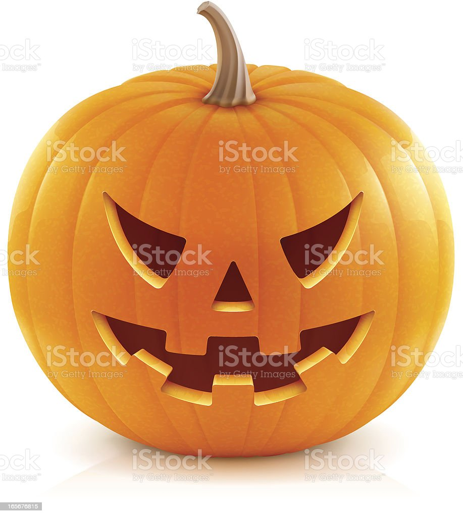Jack O'Lantern Vector illustration of classic Halloween pumpkin. Pumpkin stock vector