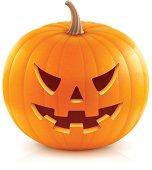 Vector illustration of classic Halloween pumpkin.