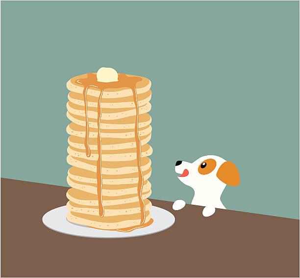 ジャックラッセルテリア、パンケーキ - パンケーキ点のイラスト素材/クリップアート素材/マンガ素材/アイコン素材