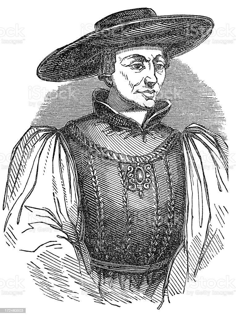 James I of Scotland vector art illustration